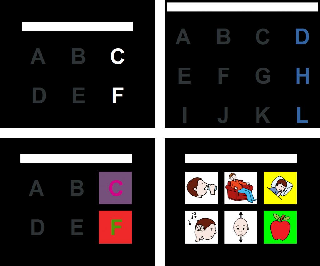 Ejemplos de UMA-BCI Speller